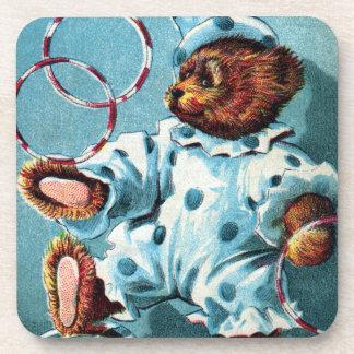 Oso Charley - letra C del payaso - oso de peluche  Posavasos De Bebidas