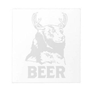 Oso + Ciervos = cerveza Blocs De Papel
