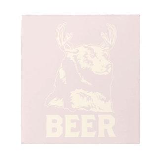Oso + Ciervos = cerveza Blocs De Notas