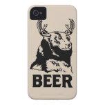Oso + Ciervos = cerveza iPhone 4 Case-Mate Cobertura