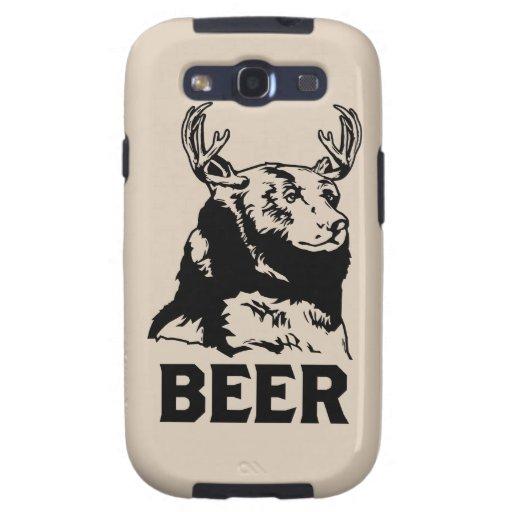Oso + Ciervos = cerveza Samsung Galaxy S3 Protector