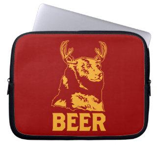 Oso + Ciervos = cerveza Funda Portátil