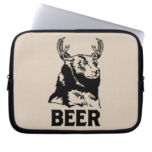 Oso + Ciervos = cerveza Fundas Portátiles