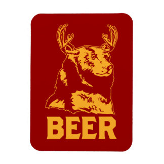 Oso + Ciervos = cerveza Iman De Vinilo