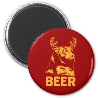 Oso + Ciervos = cerveza Imán Redondo 5 Cm