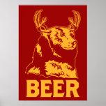 Oso + Ciervos = cerveza Impresiones