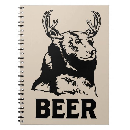 Oso + Ciervos = cerveza Note Book