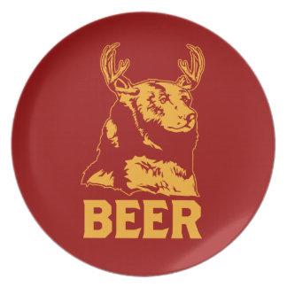 Oso + Ciervos = cerveza Platos Para Fiestas