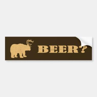 Oso + ¿Ciervos = oso? Pegatinas para el parachoque Pegatina Para Auto