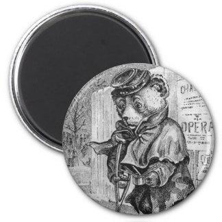 Oso cojo - letra L - oso de peluche del vintage Imán De Frigorífico