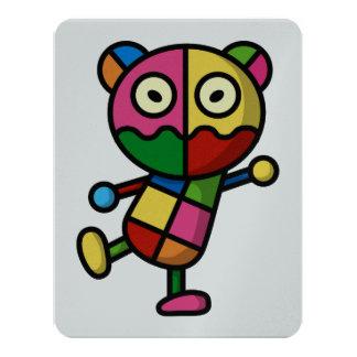"""oso colorido invitación 4.25"""" x 5.5"""""""
