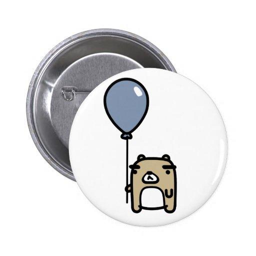 Oso con el globo azul pins