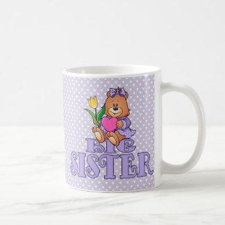 Oso con la hermana grande del corazón tazas de café