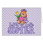 Oso con la pequeña hermana del corazón tarjetas