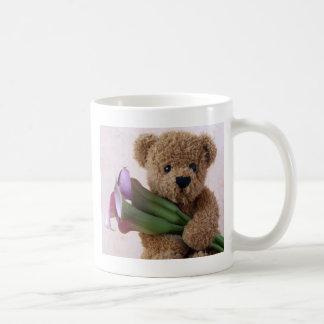 oso con la taza de café de las calas grande