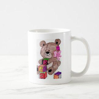 oso con los bloques tazas