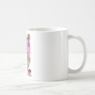 oso con los bloques tazas de café