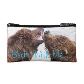 Oso conmigo bolso del cosmético de los osos de Bro