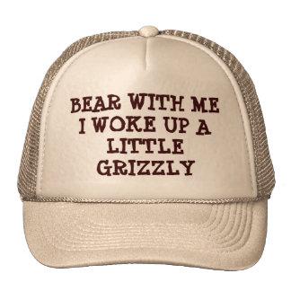 Oso conmigo desperté el grisáceo gorras de camionero