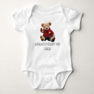 oso corregido, momia de ted quiero el oso de Ted Body Para Bebé
