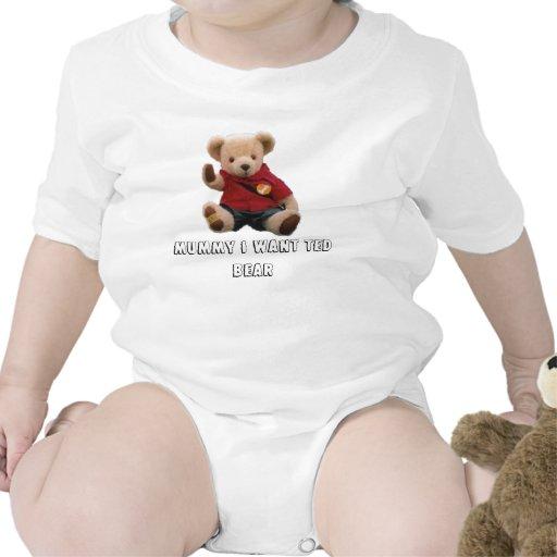 oso corregido, momia de ted quiero el oso de Ted Traje De Bebé