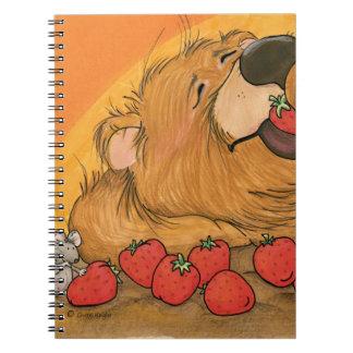 Oso/cuaderno de la fresa