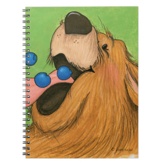 Oso/cuaderno del arándano libreta espiral