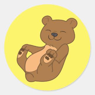Oso Cub de Brown Pegatina Redonda