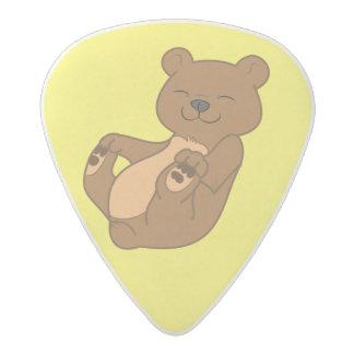 Oso Cub de Brown Púa De Guitarra Acetal