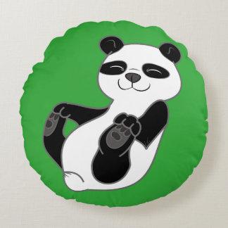 Oso Cub de panda Cojín Redondo