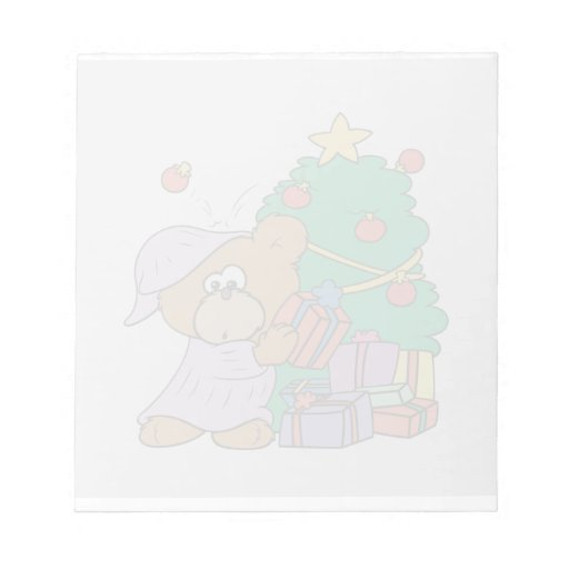 oso curioso lindo del navidad libreta para notas