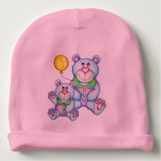 OSo Cute Bear and Bunny Reversible Baby Beanie