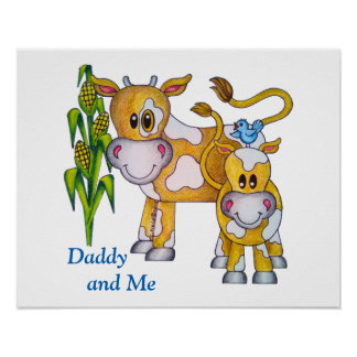 "OSo Cute ""Daddy and Me"" Poster"