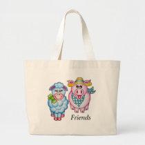 """OSo Cute """"Friends"""" Large Tote Bag"""