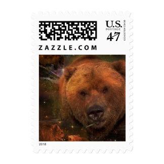 Oso de Alaska con Cubs Estampilla