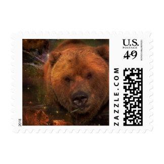 Oso de Alaska con Cubs Estampillas