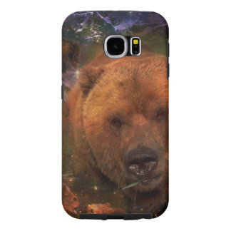 Oso de Alaska con Cubs Fundas Samsung Galaxy S6