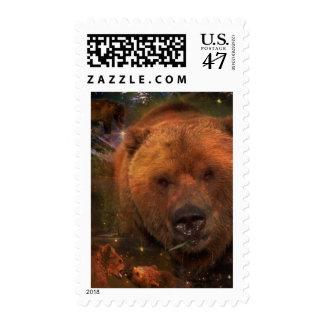 Oso de Alaska con Cubs Sello