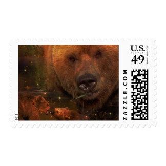 Oso de Alaska con Cubs Sellos