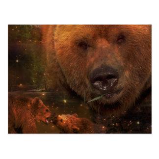 Oso de Alaska con Cubs Tarjetas Postales