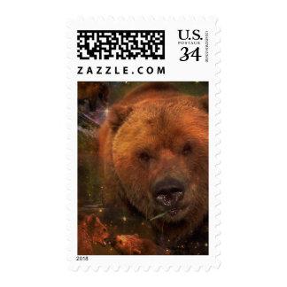 Oso de Alaska con Cubs Timbres Postales