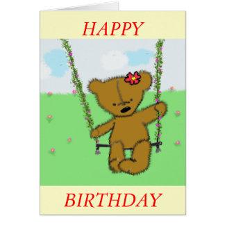 oso de balanceo tarjeta de felicitación