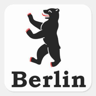 Oso de Berlín Pegatina Cuadrada
