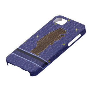 Oso de Brown del zodiaco del nativo americano de l iPhone 5 Case-Mate Cárcasas