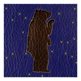 Oso de Brown del zodiaco del nativo americano de Perfect Poster