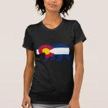 Oso de California de la bandera de Colorado Camisetas