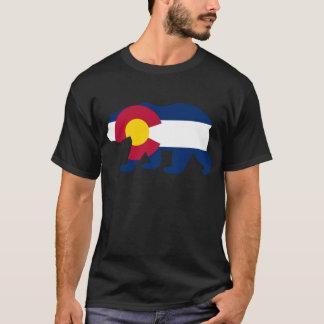 Oso de California de la bandera de Colorado Playera