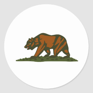 Oso de California Pegatina Redonda