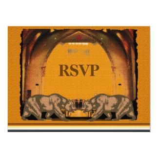 Oso de California que casa RSVP para los novios Invitación 16,5 X 22,2 Cm