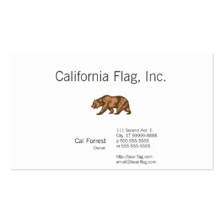 Oso de California Tarjetas De Visita